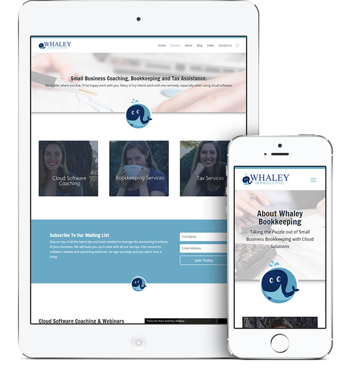 Whaley Bookkeeping Mobile