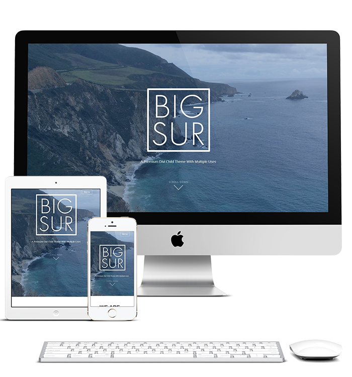 Big Sur - Divi Child Theme TEmplate