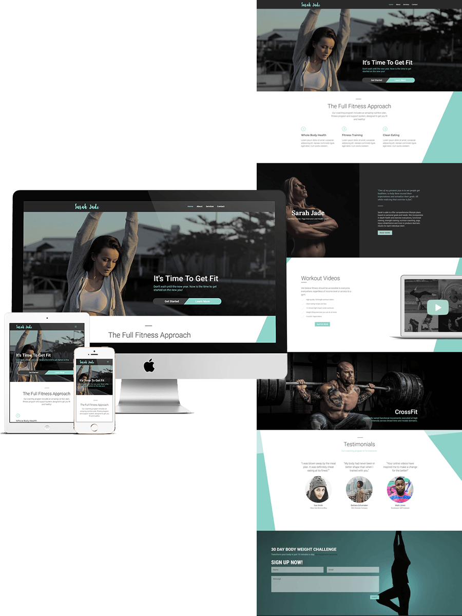 Sarah Jade Fitness Based Template