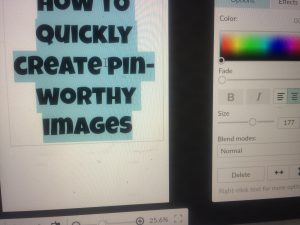 How to quickly create pinnable title images