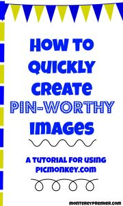 how to quickly create pinterest title images