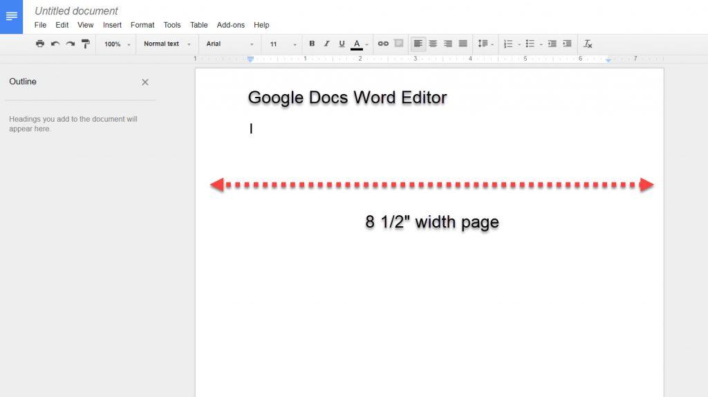 google docs word editor