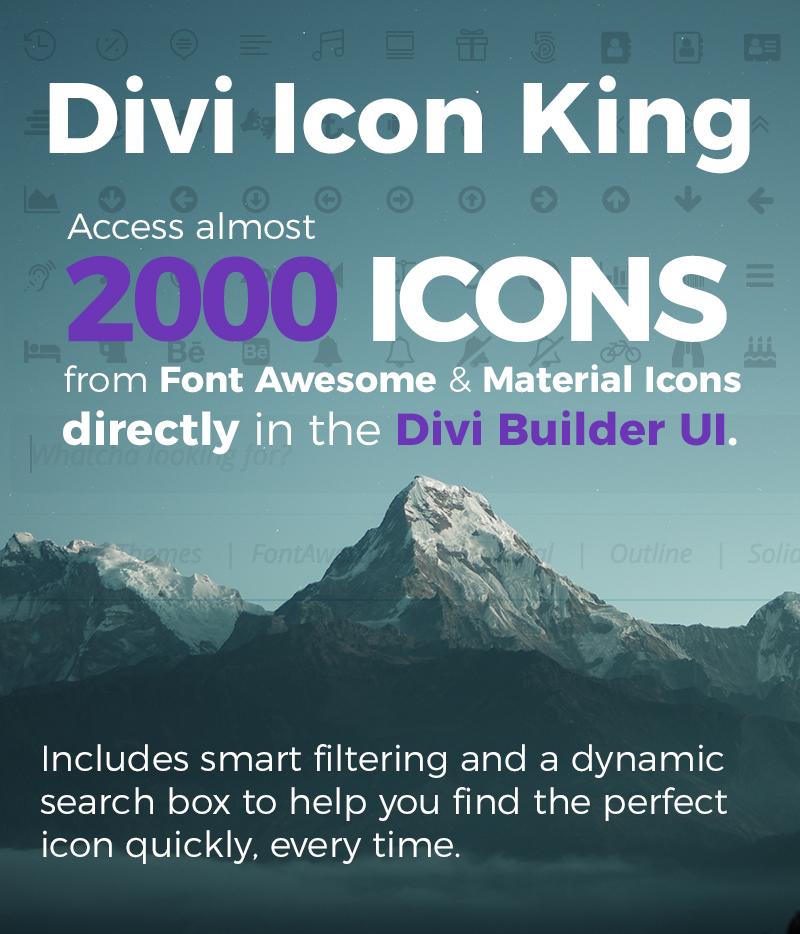 Divi icon king monterey premier s divi plugin marketplace - Divi font awesome ...