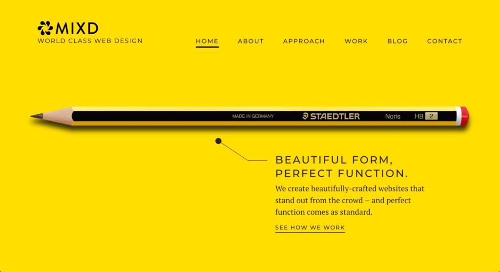 Mixd Website Design